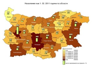 Данни на НСИ за население по области